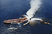 Fire on Oil Tanker,Gulf of Mexico,1990