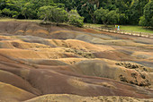 Chamarel colored earths,Mauritius