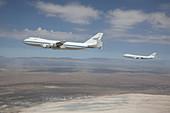 Two NASA Boeing 747s