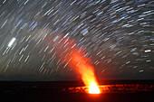 Star Trails over Kilauea Volcano,Hawaii