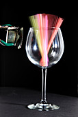 Straws in a Glass at Resonance