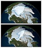 Decrease in Arctic Sea Ice: 1980 to 2012