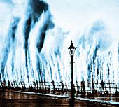 Waves Smashing Seawall,1938