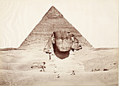 Egypt,Sphinx and Pyramid,1860