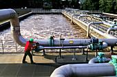 Aerators at Sewage Treatment Plant