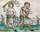 Flagellants,Nuremberg Chronicle,1493