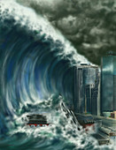 Tsunami,Illustration