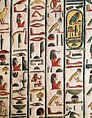 Relief in tomb of Queen Nefertari,Egypt