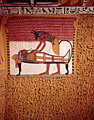Anubis Preparing Sennedjem Mummy