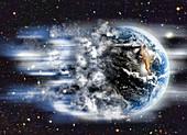 Earth and Cloudburst,illustration