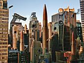 Big City Guns and Bullets,illustration
