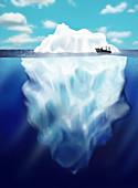 Iceberg,illustration