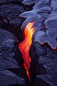 Pahoehoe Lava,Kilauea Volcano,Hawaii