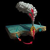 Hydrothermal Vent,illustration