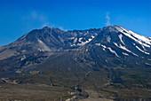 Dust on Mount St. Helens