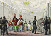Lincoln and Native American chiefs,1863