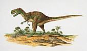 Dinosaur on a landscape,illustration
