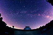 Milky Way Galaxy and Observatory
