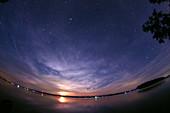 Moonrise over Rice Lake,Canada