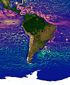 Ocean currents around South America