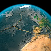 Global tectonics,north-western Atlantic