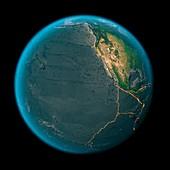 Global tectonics,eastern Pacific Plate