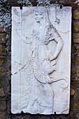 Minerva relief in Herculaneum
