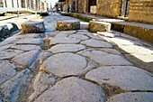 Street in Pompeii with stepping stones