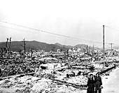 Atomic bomb destruction,Hiroshima,1945