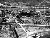 Atomic bomb destruction,Nagasaki,1945