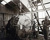 Trinty Test atom bomb and Bradbury,1945