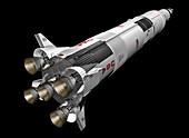Saturn V rocket,illustration