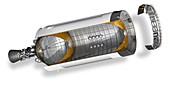 Saturn V rocket 3rd stage,illustration