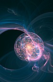 Bubble universe,illustration