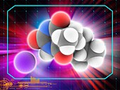 Amobarbital sodium drug molecule