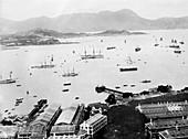 Hong Kong harbour,1910s