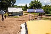 Solar-powered water pump