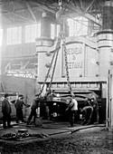 Industrial metal-bending press,1910s