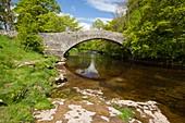 Packhorse bridge over river