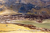 Reservoir fed by glacial meltwater