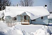 Snow on a House