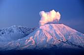 Mount Saint Helens Venting Steam
