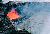 Vent of shield volcano,Hawaii