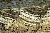 Normal faults in sandstone,Australia