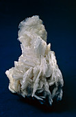 View of barite crystals