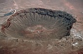 View of Barringer Crater,Arizona,USA