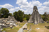 'Tower I,Gran Plaza,Tikal,Guatemala'