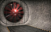 Wind tunnel,illustration