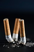 Cigarettes that have been put out