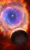 Artwork of a planetary nebula
